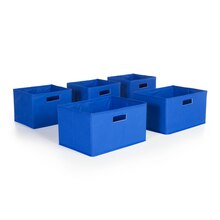 Guidecraft's Set of 5 Bins, Blue